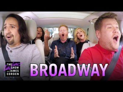 'Hamilton' star Lin-Manuel Miranda and other Broadway stars belt out Carpool Karaoke
