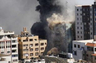 Israel strike in Gaza hits, destroys building housing Associated Press, other media