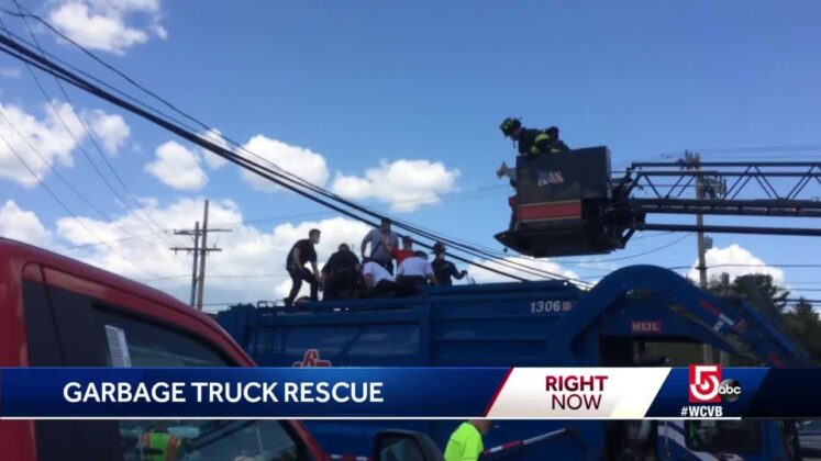 Man rescued after being compressed in trash truck