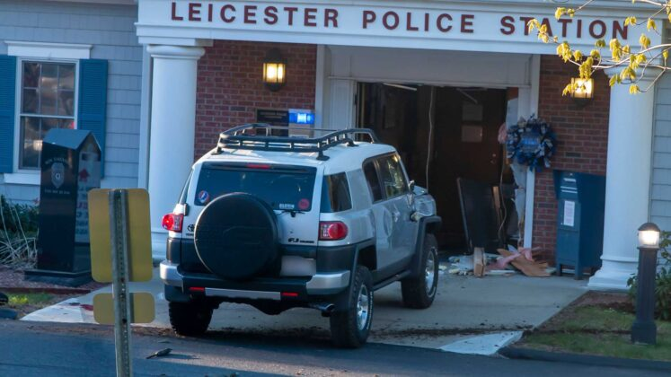 Officials ID man shot, killed after driving SUV into local police station