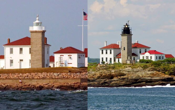 Ownership of two historic New England lighthouses will be given away