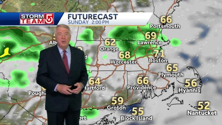 Video: Spot showers will move through overnight, return Sunday afternoon