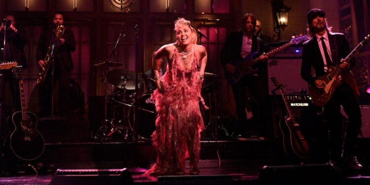 """Watch Miley Cyrus Perform """"Without You"""" and """"Plastic Hearts"""" on SNL"""