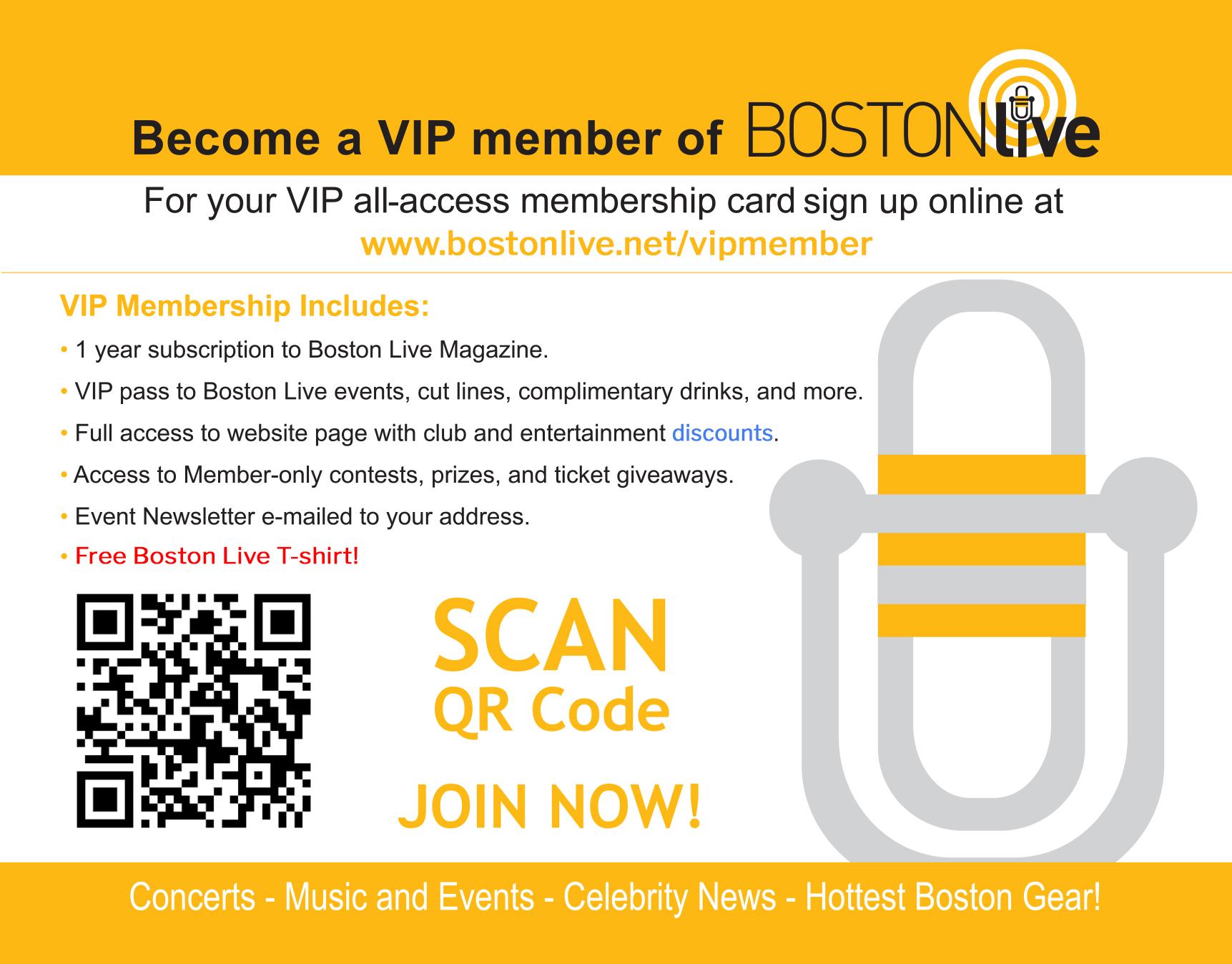 BostonLive VIP Membership