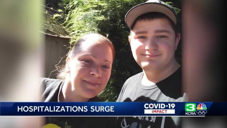 A mother pleas for people to get vaccinated as two of her sons are hospitalized for COVID-19