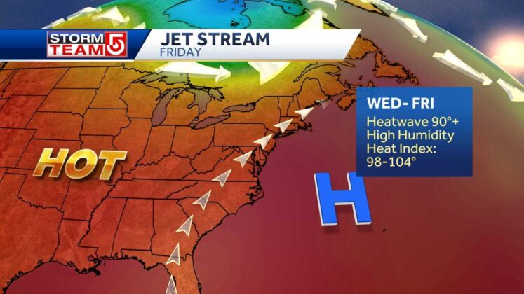Extreme heat moving into region