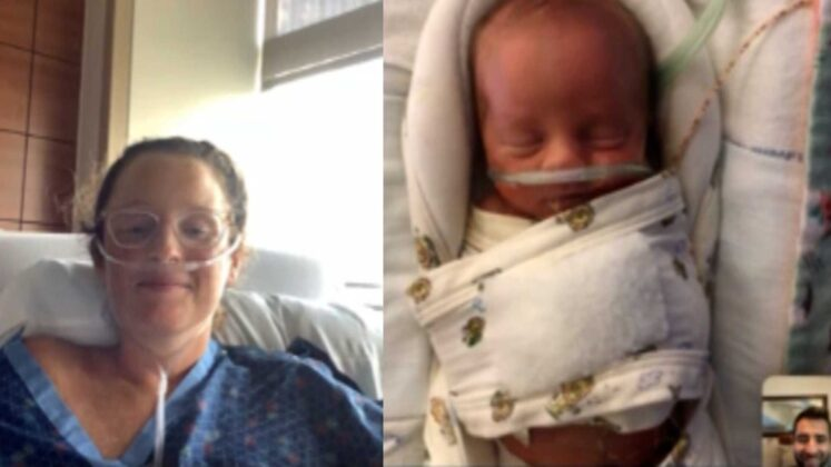 Florida mother who was intubated with COVID-19 sees baby for first time over video call