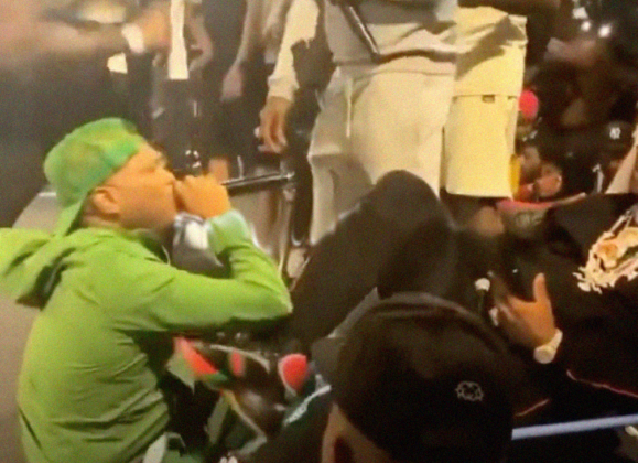FOOTAGE: Cam'ron KICKS Styles P During Verzuz . . . Styles Wanted To FIGHT!!