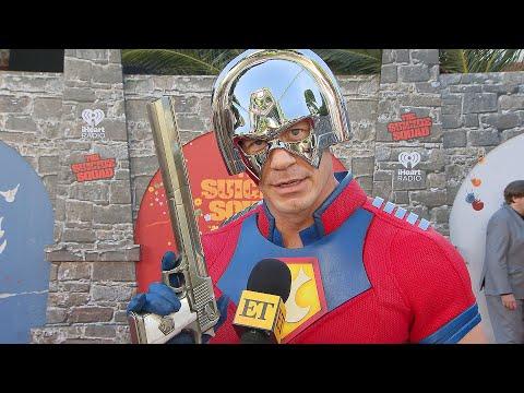 John Cena Dresses as PEACEMAKER for The Suicide Squad Premiere (Exclusive)