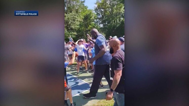 Mass. camp receives huge surprise on final day of camp: Shaquille O'Neal