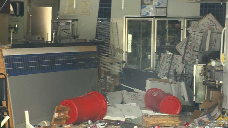 SUV crashes into pizza shop, causes significant damage