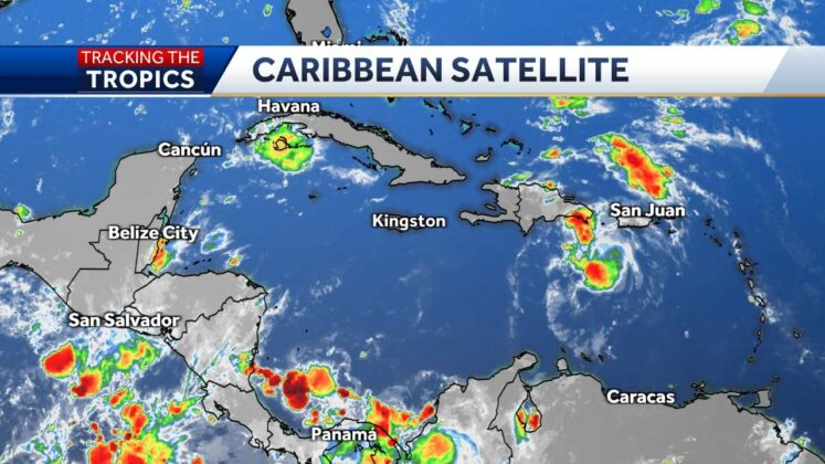 Tropical Storm Fred nearing Dominican Republic and Haiti