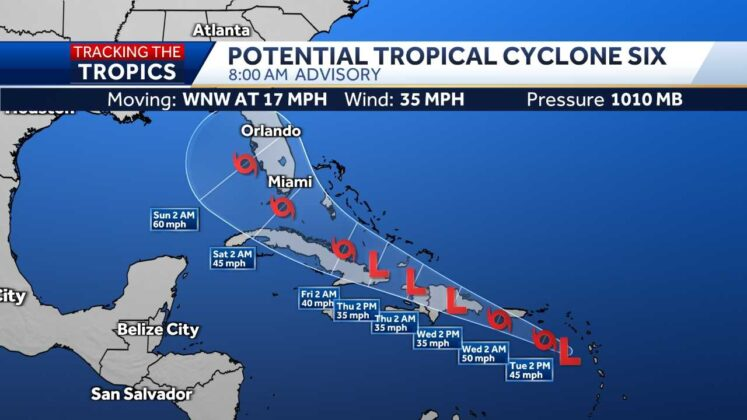 Tropical storm warnings issued for US Virgin Islands, Puerto Rico