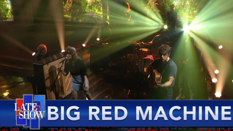 Watch Big Red Machine debut 'New Auburn' on 'Colbert'