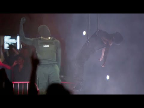 Watch Kanye West LEVITATE at Donda Album Release Event