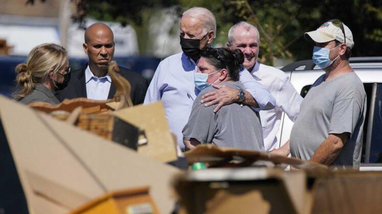 Biden surveys New York and New Jersey storm damage after deadly flooding