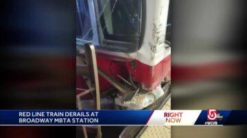 Investigation underway after MBTA Red Line train derails