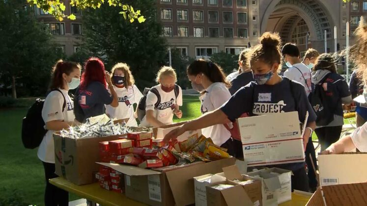Mass. students take part in day of service on 20th anniversary of 9/11