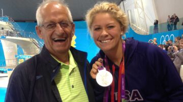Olympian completes historic swim in New England to honor late father