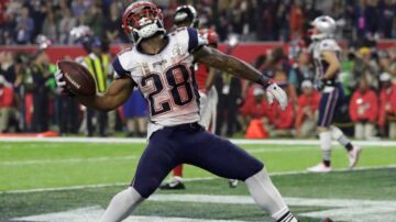 Patriots running back ruled out for rest of Saints game with injury