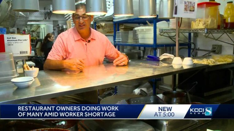 Restaurant owner working all the jobs he's struggling to fill