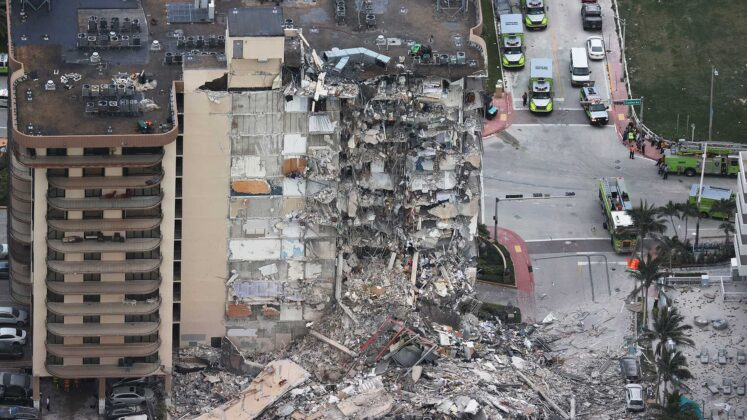 Three people accused of stealing from victims of Florida condo collapse