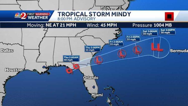 Tropical Storm Mindy makes landfall in Florida's panhandle