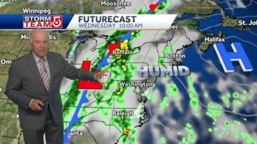 Video: Muggier air to move in, increase chances of wet weather