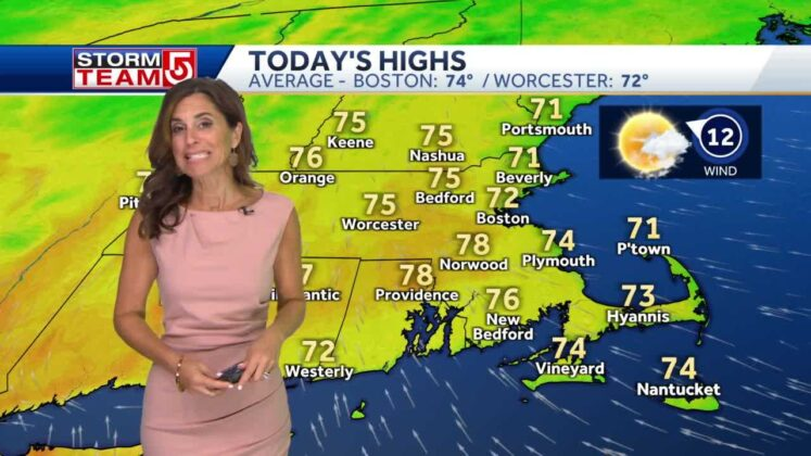 Video: Pleasant, sunny day with temps in 70s