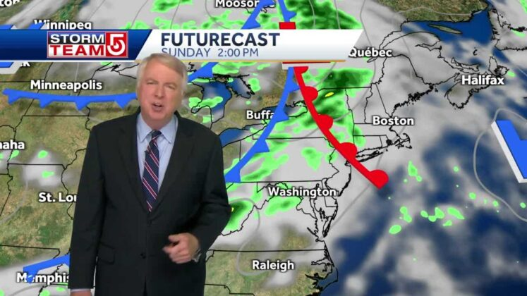 Video: Scattered showers to follow beautiful start to Labor Day weekend