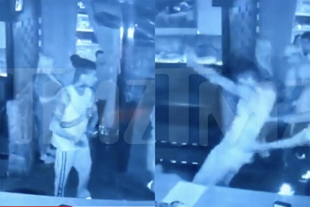 Video Shows Blueface Stomping, Kicking Club Bouncer