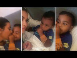 Watch Kim Kardashian's Son Psalm IGNORE Her!