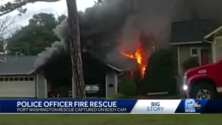 WATCH: Officer captured on body cam pulling man from burning home