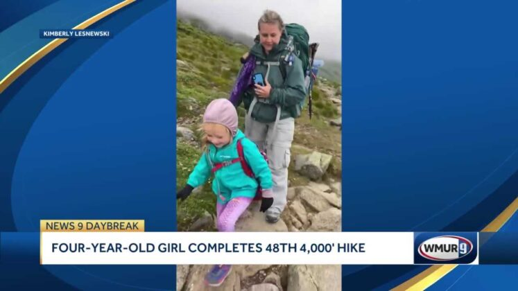 WHOA! Girl hikes her 48th 4,000-foot mountain before 5th birthday