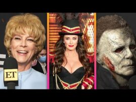 Cast of 'Halloween Kills' Celebrates Premiere With Costume Party!