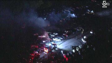 Fire engulfs vehicles at Massachusetts auto auction car lot