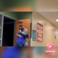 Military dad surprises son with 'picture perfect' reunion
