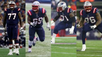 Patriots without 4 starting offensive linemen against Texans