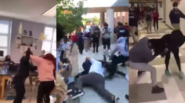 Teachers say their school 'is in crisis' after series of fights