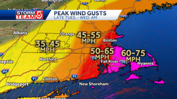 Thousands without power as nor'easter brings hurricane-force winds, heavy rain