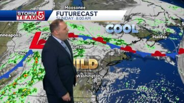 Video: Clouds, few showers for weekend