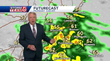 Video: Clouds, showers develop into Sunday