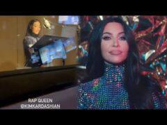 Watch Kim Kardashian RAP in the Recording Studio