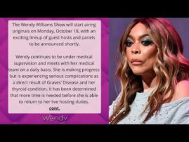 Wendy Williams NOT Returning to Talk Show as Expected