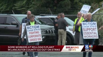 Workers at all of Kellogg's US cereal plants go on strike